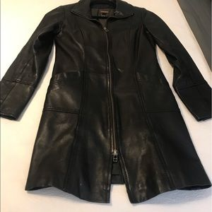 Leather jacket with winter lining